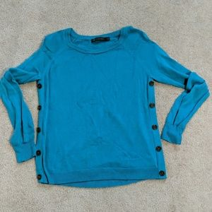 ❤️Teal side button sweater size M
